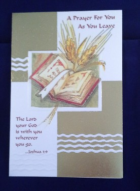 Prayer As You Leave Card