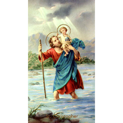St. Christopher Holy Card