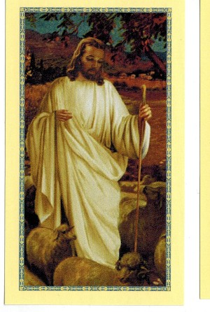 Good Shepherd Holy Card