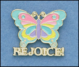Rejoice Butterfly Pin