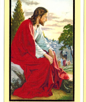 Jesus Praying Over Jerusalem