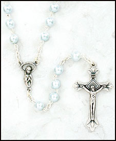 Blue Pearl Rosary