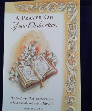 Ordination Card