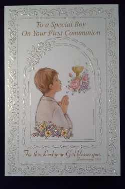 First Communion Card: Special Boy