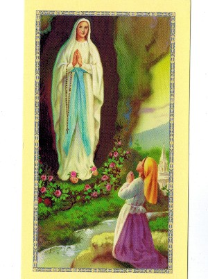 St. Bernadette Holy Card