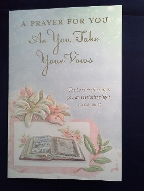 As You Take Your Vows Card