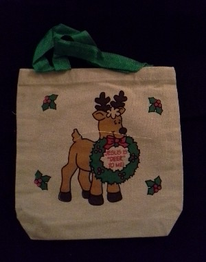 Canvas Gift Bag: Deer