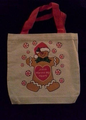 Canvas Gift Bag: Gingerbread Man