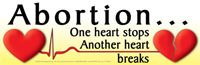 Bumper Sticker: One Heart Stops