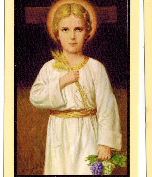 Child Jesus Holy Card