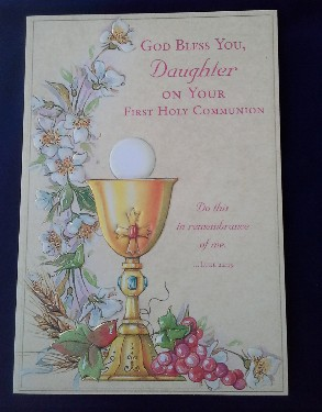 First Communion Card: Daughter (2)