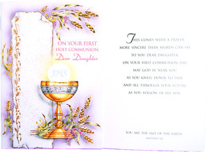 First Communion Card: Daughter (3)