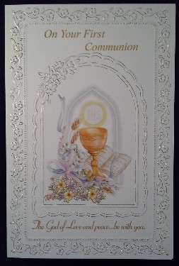 First Communion Card: General (4)