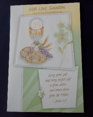 First Communion Card: Grandson