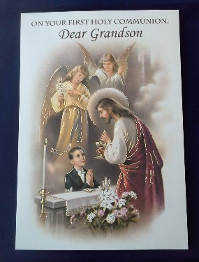 First Communion Card: Grandson (2)