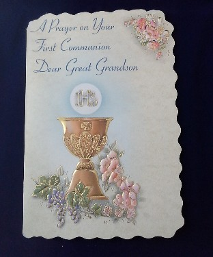 First Communion Card: Great Grandson (2)