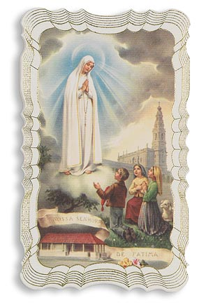 Our Lady of Fatima Deluxe Holy Card