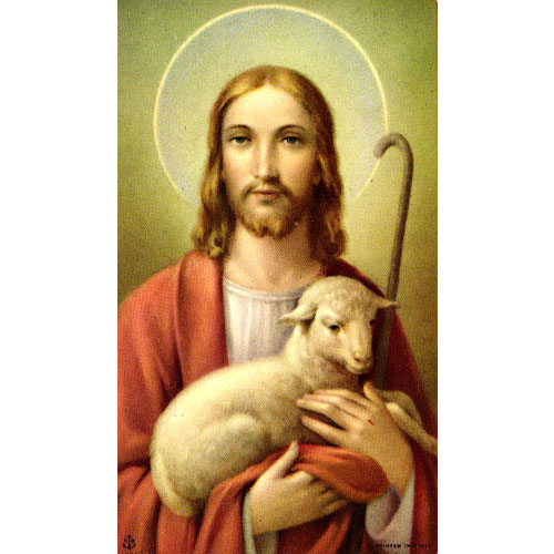 Good Shepherd Holy Card (series 150) Blank Back