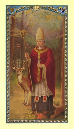 St. Hubert (Patron Saint of Hunters) Holy Card