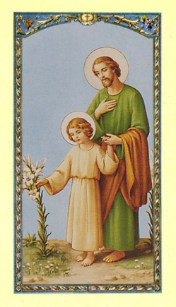 St. Joseph Holy Card (10 pack) (#482)