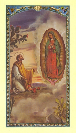 Juan Diego and Our Lady of Guadalupe Holy Card