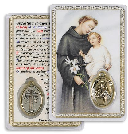 Saint Anthony Holy Card with Medal (2)