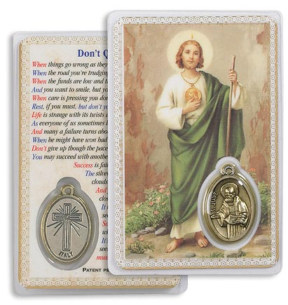 Saint Jude Holy Card with Medal