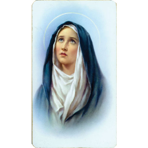 Sorrowful Mother Holy Cards (Alba series) Blank Back