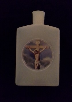 Crucifix Holy Water Bottle