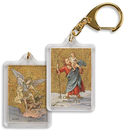 St. Christopher/St. Michael Keychain