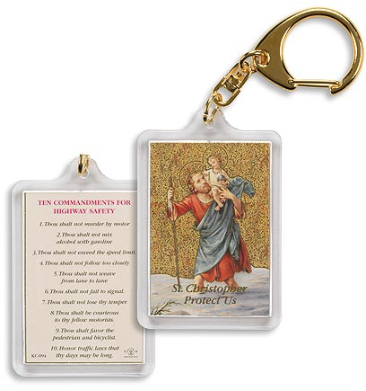 St. Christopher Motorists Prayer Keychain