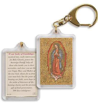 Our Lady of Guadalupe(Mystical Rose) Keychain