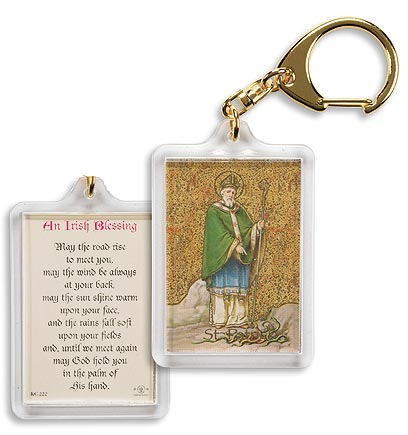 St Patrick Keychain (Irish Blessing Prayer)