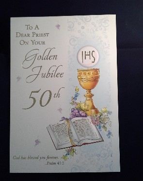 Priest Golden Jubilee Card