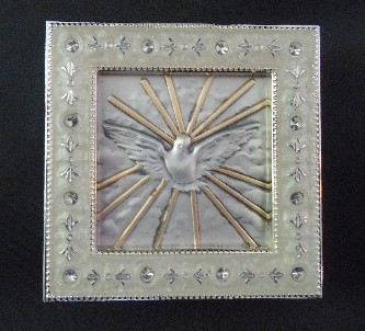 Salerni Holy Spirit Silver Enamel Picture