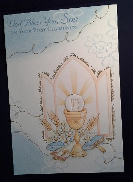 First Communion Card: Son (2)