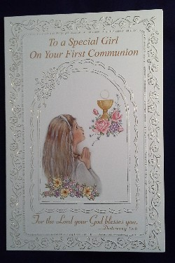 First Communion Card: Special Girl