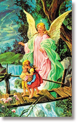 Angel of God Wallet Size Holy Card