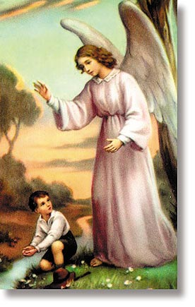 Angel of God (Boy) Wallet Size Holy Card