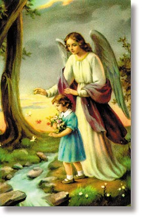 Angel of God (Girl) Wallet Size Holy Card