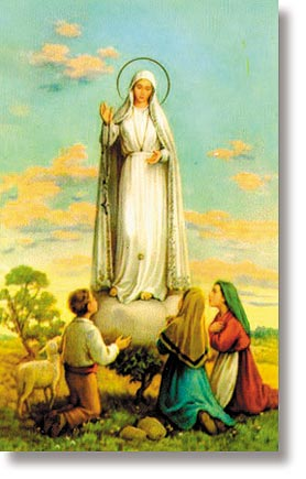 Our Lady of Fatima Wallet Size Holy Card