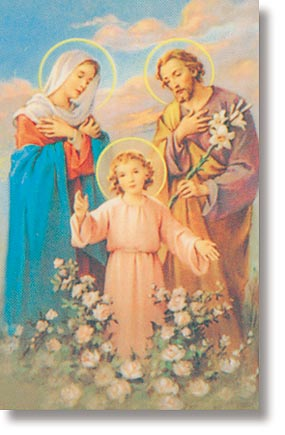 Holy Family Wallet Sized Holy Card
