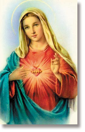 Immaculate Heart of Mary Wallet Sized Holy Card