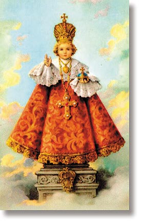 Infant of Prague Wallet Size Holy Card