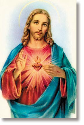 Sacred Heart Wallet Size Holy Card