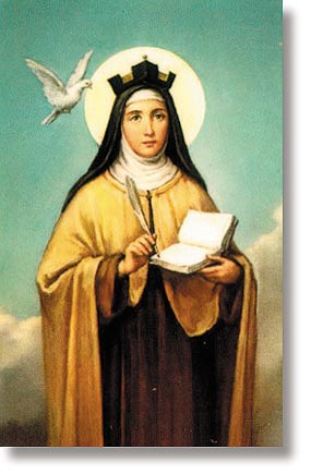 St Teresa of Avila's Bookmark Wallet Size Holy Card
