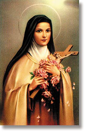 St. Therese of Lisieux Wallet Size Holy Card